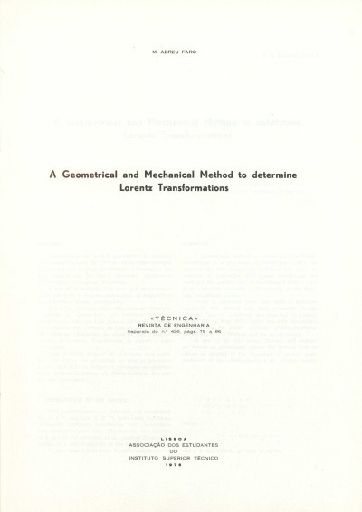 A geometrical and mechanical method to determine Lorentz transformations