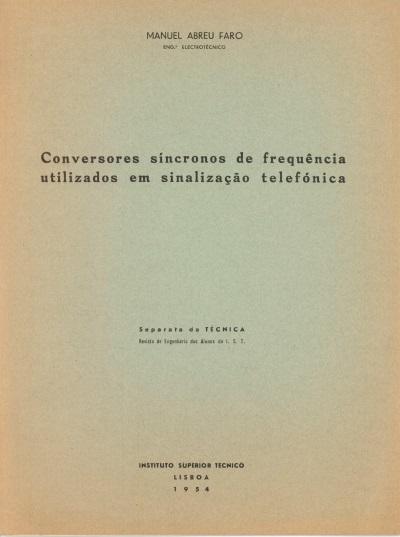 Conversores síncronos de frequência utilizado em sinalização telefónica