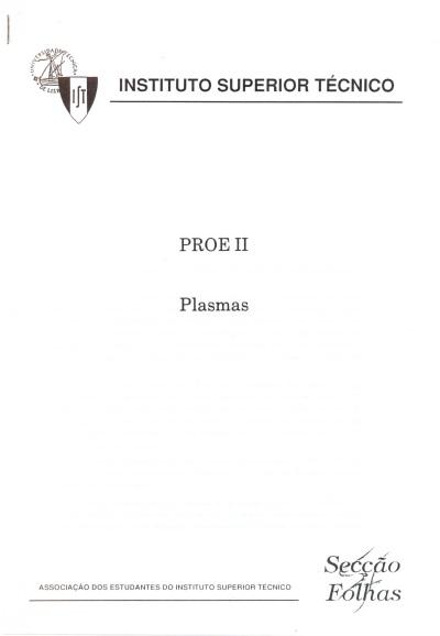 PROE II Plasmas