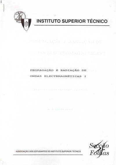 Propagação e radiação de ondas electromagnéticas I