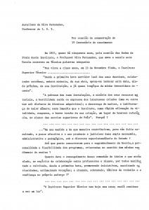 Prof. Aureliano de Mira Fernandes [1984] 1º Centenário