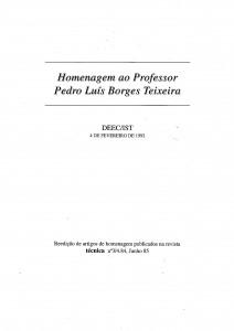 Prof. Pedro Borges Teixeira [1992]
